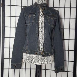 DKNY jeans  dark wash jean jacket size 9